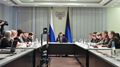 Пушилин дал поручения министерствам в связи с ситуацией с COVID-19